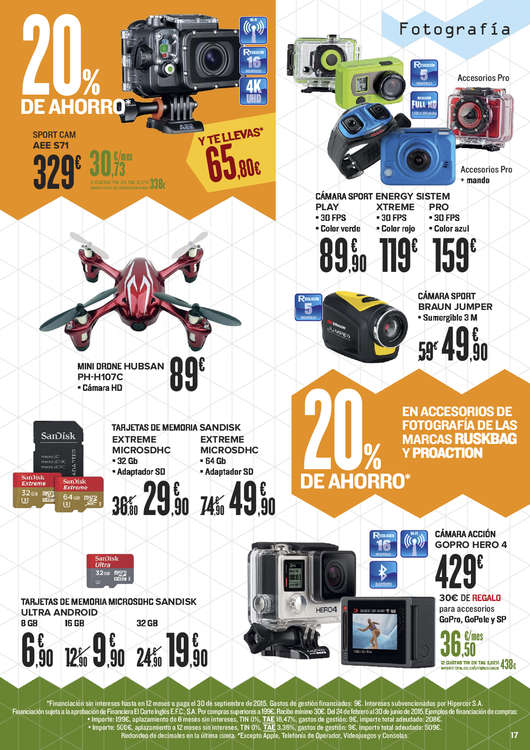 Ofertas de HiperCor, 20% de descuento en electrónica y electrodomésticos