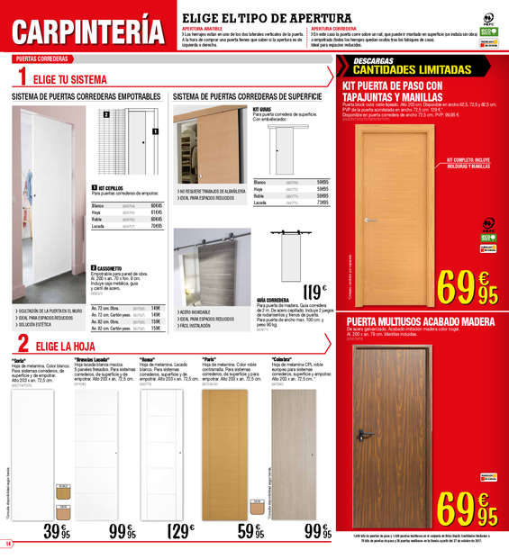 Puertas en block precios awesome puertas lacadas with for Puertas baratas bricomart