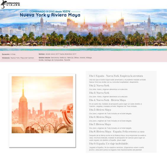Ofertas de Arganda Viajes, Nueva York y Riviera Maya