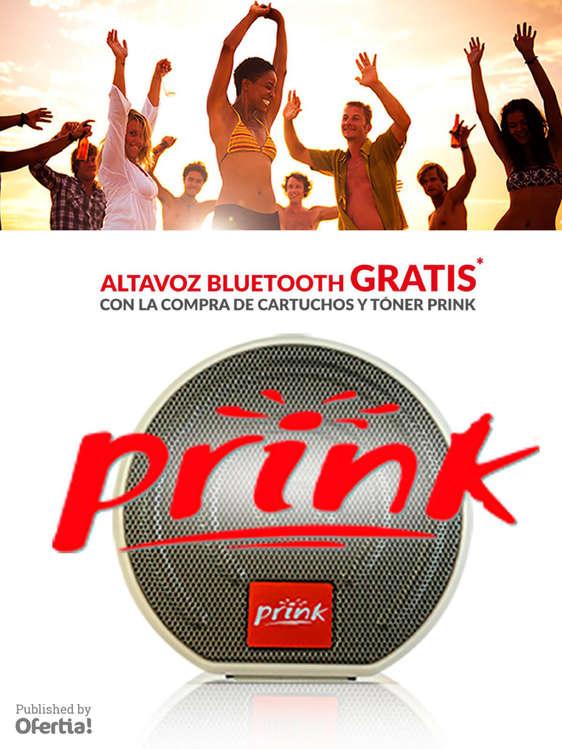 Ofertas de Prink, Altavoz Bluetooth Gratis