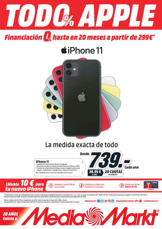 Ofertas de Media Markt, Todo Apple 0%