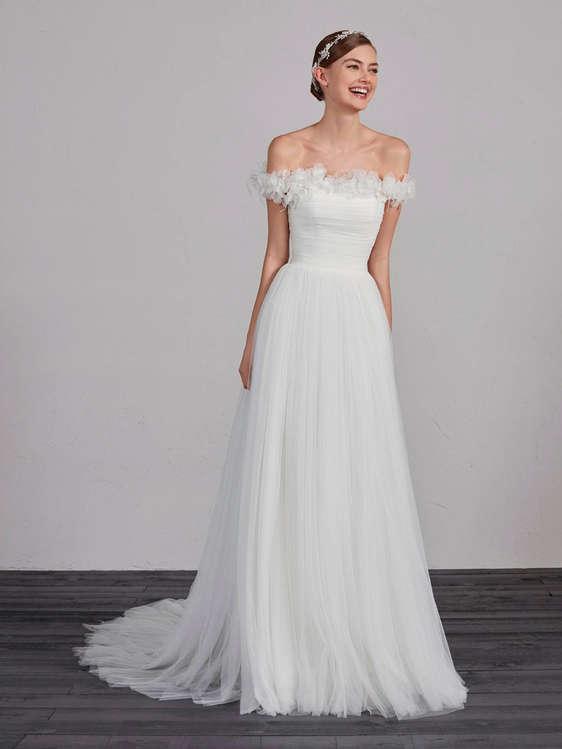 Vestidos de novia palabra de honor baratos