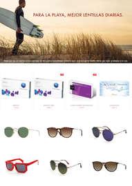 Para la playa, mejor lentillas diarias