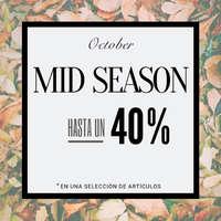 Mid Season hasta un 40%