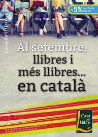 Al setembre, llibres i més llibres... en català