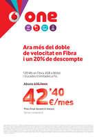 Ofertas de Vodafone, Ara més del doble de velocitat en Fibra i un 20% de descompte