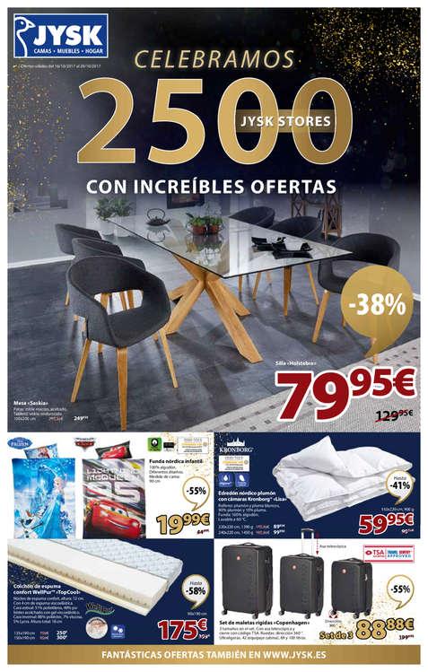 Ofertas de JYSK, Celebramos 2.500 JYSK stores con increíbles ofertas