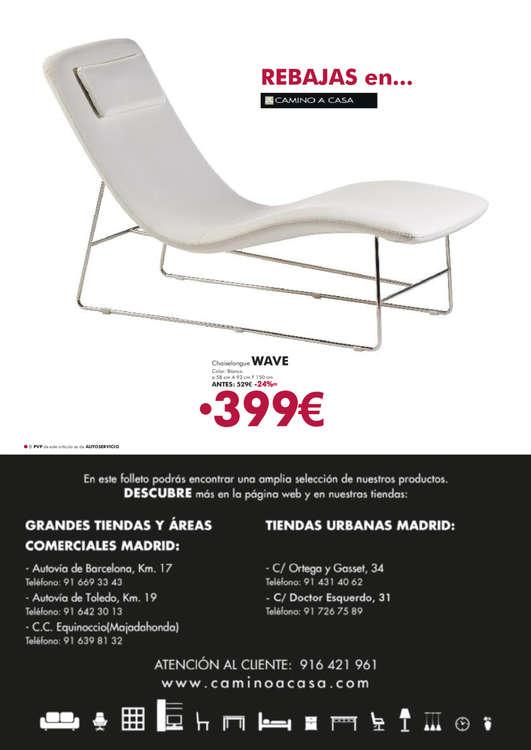 Comprar chaise longue ofertas y tiendas ofertia for Muebles camino a casa catalogo