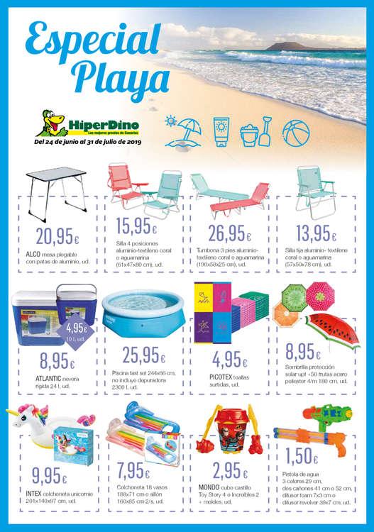 Ofertas de HiperDino, Especial Playa y Camping