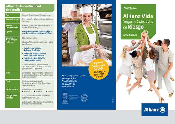 Ofertas de Allianz, Folleto Vida Colectivos de Riesgo