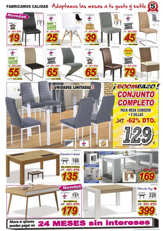 Comprar Conjunto mesa y sillas comedor barato en L\'Eliana - Ofertia