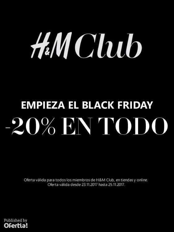 Ofertas de H&M, ¡Empieza el Black Friday!