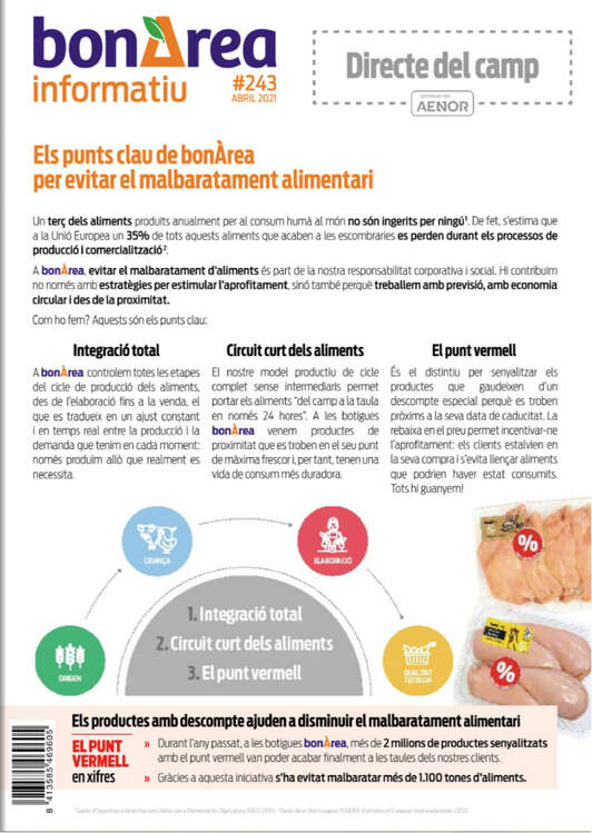 Ofertas de BonÀrea, Informativ Abril 2021