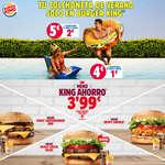 Ofertas de Burger King, Menú de King