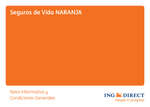 Ofertas de ING Direct, Seguros de vida Naranja