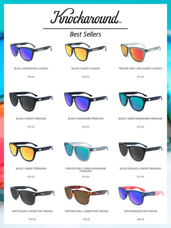 Ofertas de Knockaround, Best sellers