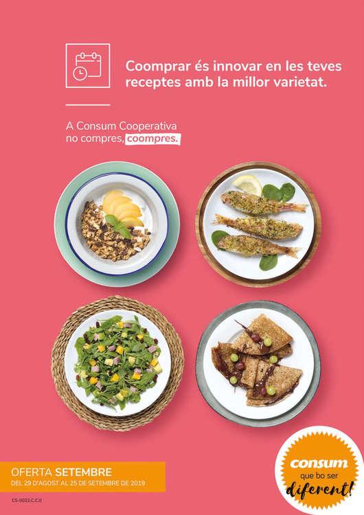 Ofertas de Consum Basic, Coomprar és innovar en les teves receptes amb la millor varietat
