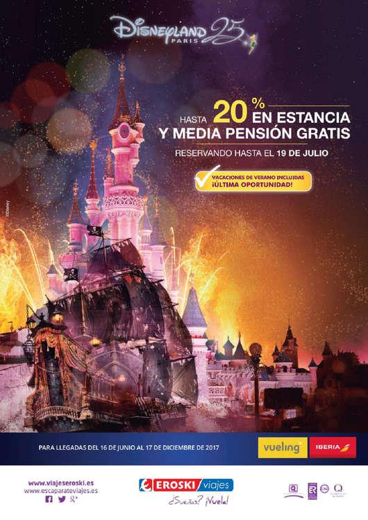 Ofertas de Eroski Viajes, Hasta 20% en estancia y media pensión gratis