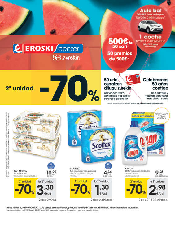 Ofertas de Eroski Center, 2ª unidad -70% - Eroski Center