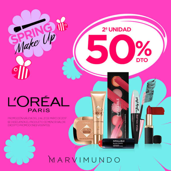 Ofertas de Marvimundo, Spring make up