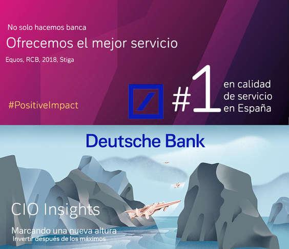 Ofertas de Deutsche Bank, Ofrecemos el mejor servicio