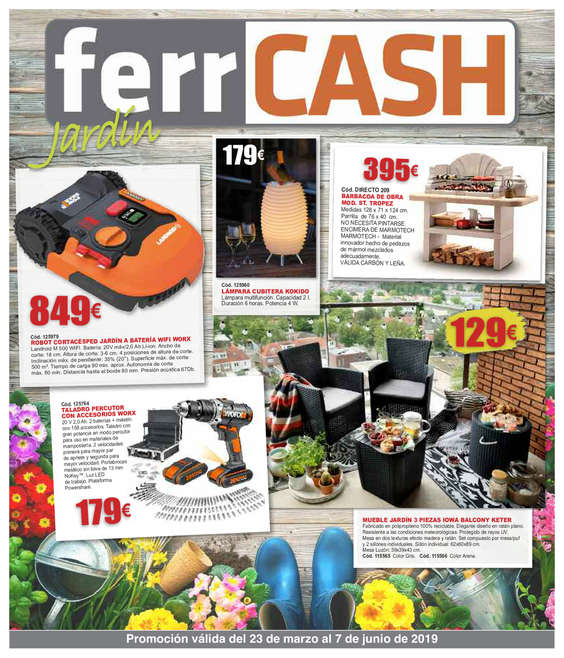 Ofertas de FerrCASH, Jardín