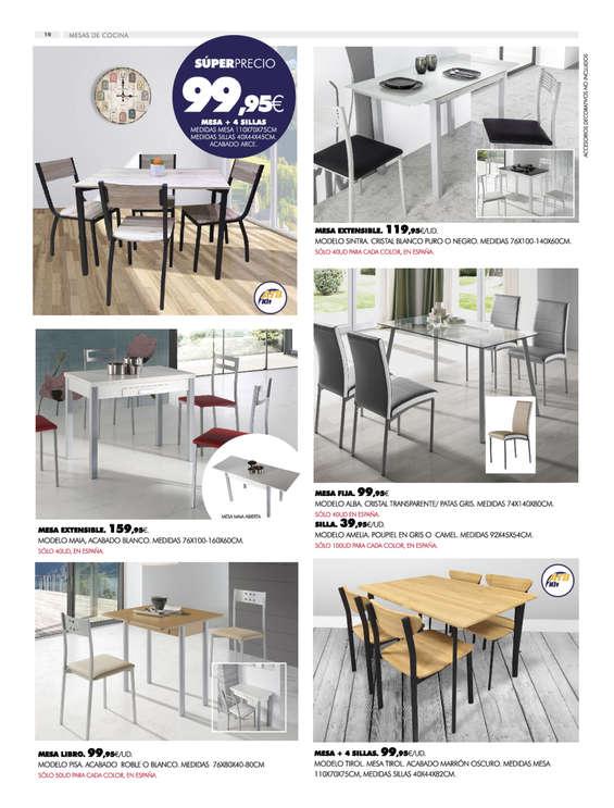 Comprar Conjunto mesa y sillas comedor barato en Alcázar de ...