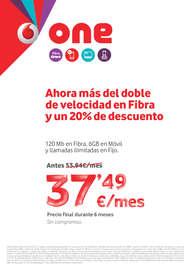 Ahora más del doble de velocidad en fibra y un 20% de descuento