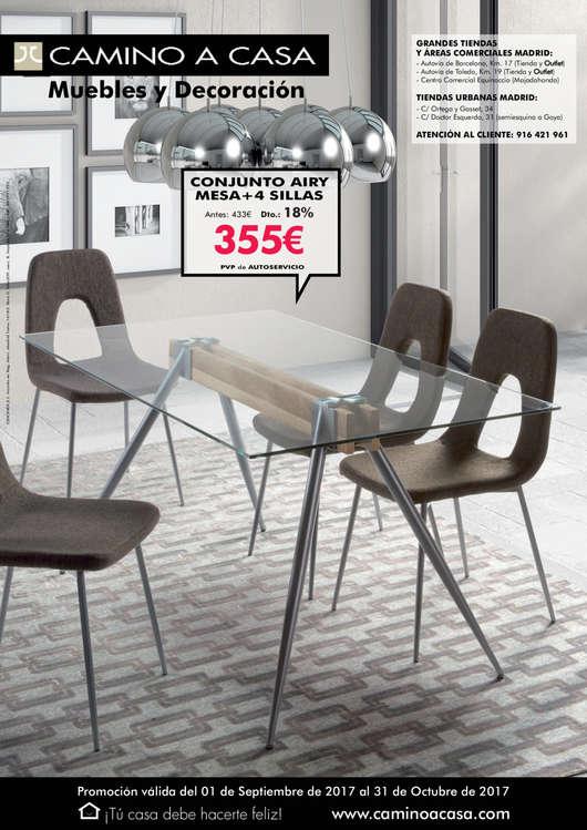Comprar Conjunto mesa y sillas comedor barato en Getafe - Ofertia