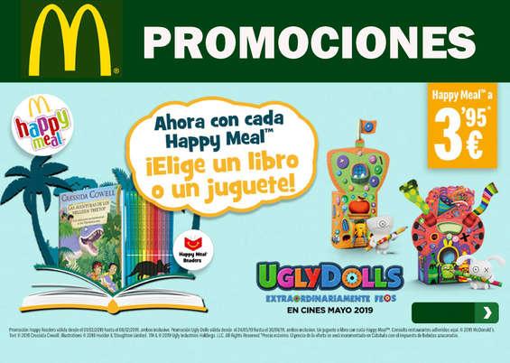 Ofertas de McDonald's, Ahora con cada Happy Meal ¡Elige un libro o un juguete!