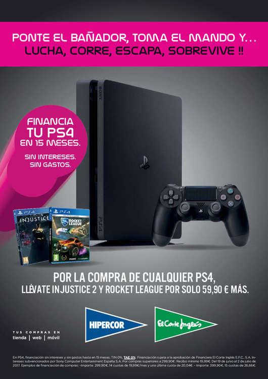Ofertas de Hipercor, Financia tu PS4 en 15 meses sin intereses