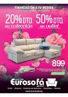 Ofertas de Eurosofá, 20% de descuento en colección. 50% de descuento en outlet