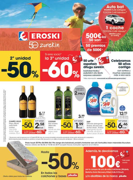 Ofertas de Eroski, 2ª unidad -50%