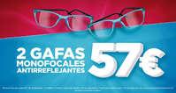 2 gafas monofocales antirreflejantes