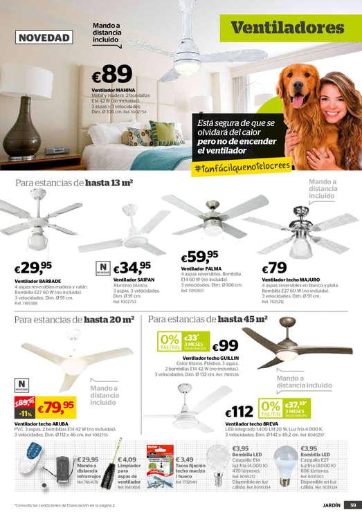 Comprar ventilador de techo barato en madrid ofertia - Ventilador techo carrefour ...