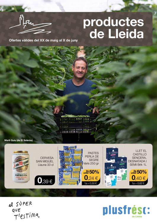 Ofertas de Plusfresc, Productes de Lleida