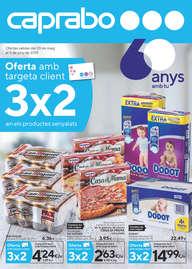 Oferta amb targeta client 3x2 en els productes senyalats