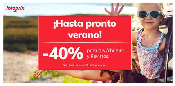 Ofertas de Fotoprix, ¡Hasta pronto verano!