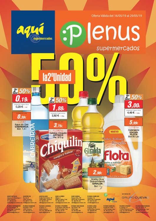 Ofertas de Aquí Supermercados, 50% la 2a unidad