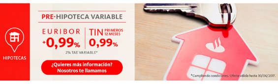 Ofertas de Santander, Pre-hipoteca variable