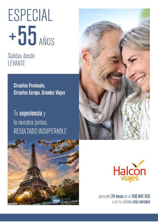 Ofertas de Halcón Viajes, Especial + 55 años