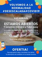 Ofertas de Lizarran, Estamos abiertos #Desescalada
