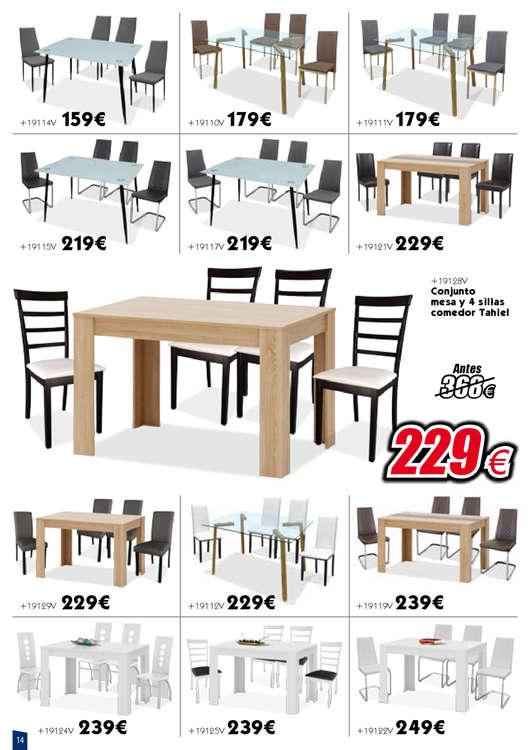 Comprar Conjunto mesa y sillas comedor barato en Caminomorisco - Ofertia