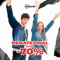 Remate final. Hasta -70%
