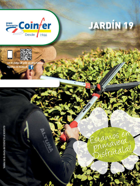 Ofertas de Coinfer, Jardín 2019