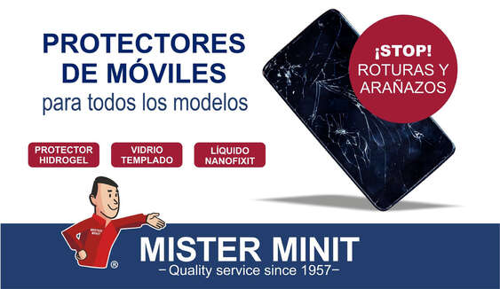 Ofertas de Mister Minit, Protectores de móviles