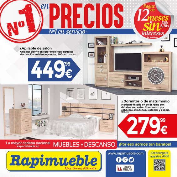 Rapimueble ofertas cat logo y folletos ofertia for Dormitorios rapimueble