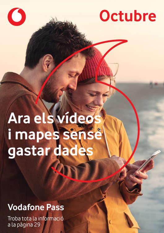 Ofertas de Vodafone, Octubre - Ara els vídeos i mapes sense gastar dades